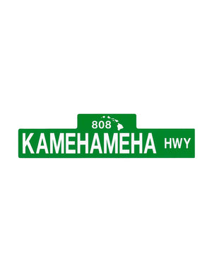 T&C Surf Designs Kamehameha Street Sign Sticker, One