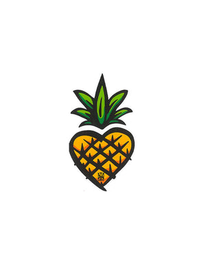 T&C Surf Designs Graphic Pine Heart Sticker, One