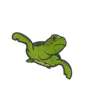 T&C Surf Designs Graphic Tapa Honu Sticker, One