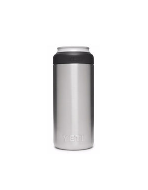 T&C Surf Designs Yeti 12 oz Rambler Colster Slim Can Insulator, Stainless Steel