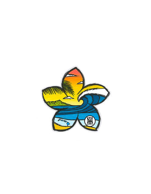 T&C Surf Designs Sunset Plumeria Sticker, One