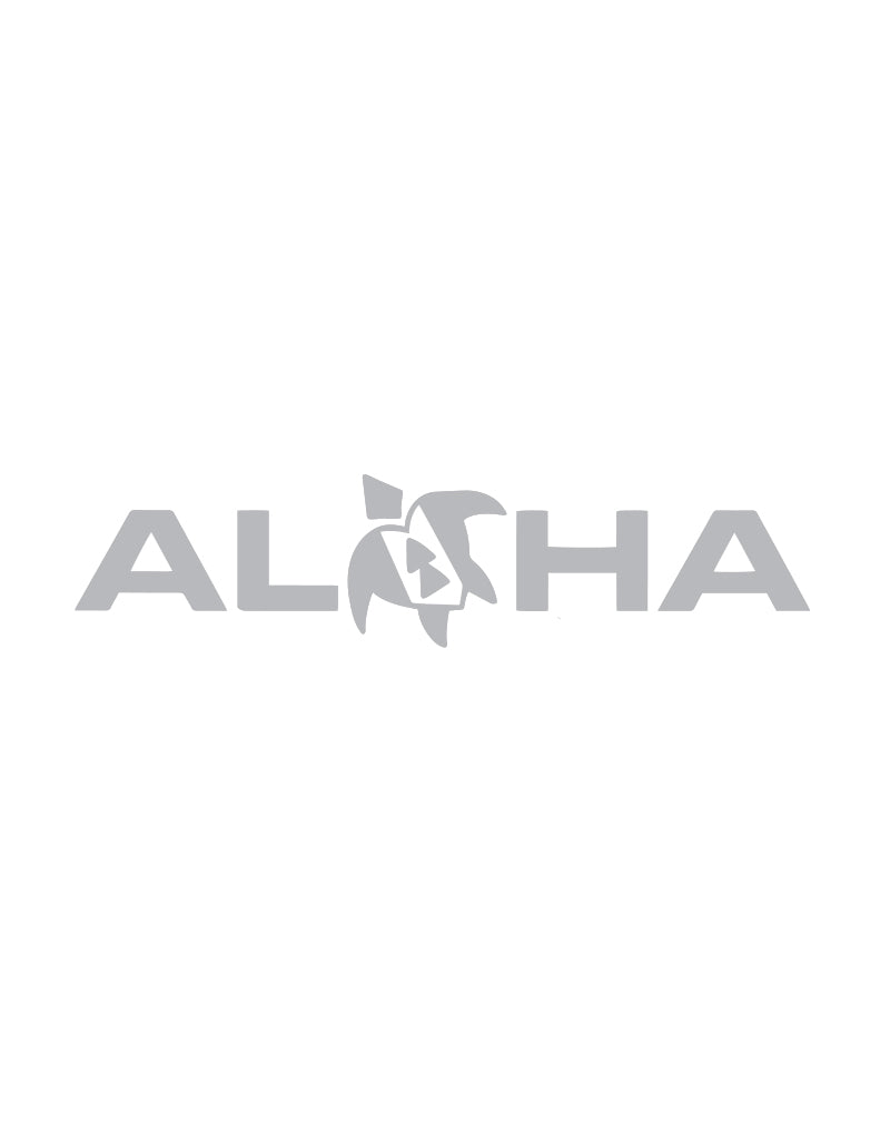 T&C Surf Designs Aloha With Lance Honu Sticker, Silver