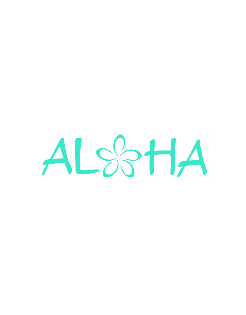 Aloha With Plumeria Sticker