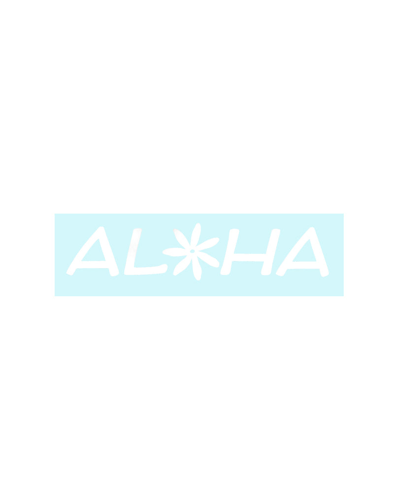 Aloha With Tiare Sticker