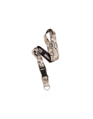 T&C Surf Designs Defend Namanu Lanyard, Cream Black