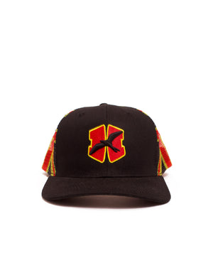 T&C Surf Designs H Icon 808 H Embroidered Flag Trucker, OS / Black Yellow Red