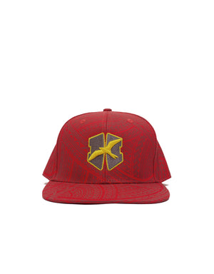 T&C Surf Designs H Icon 808  H Embroidered Tribal Snap, OS / Red Yellow Grey