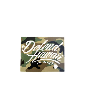 T&C Surf Designs Defend Wildstyle Logo Camo Box Sticker, Camo