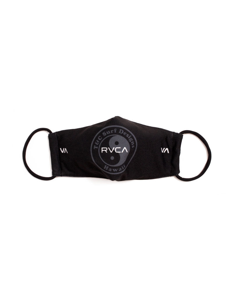 T&C Surf Designs RVCA x T&C Surf Logo Black Mask, Black