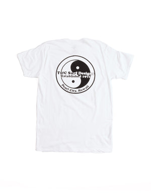 T&C Surf Designs Logo One Color Jersey Tee, S / White