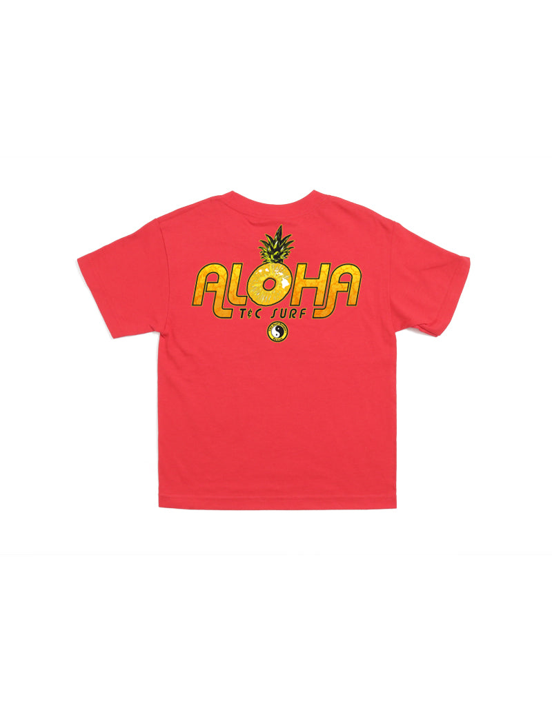 T&C Surf Designs T&C Surf Kids Aloha Pine Tee, XS / Red