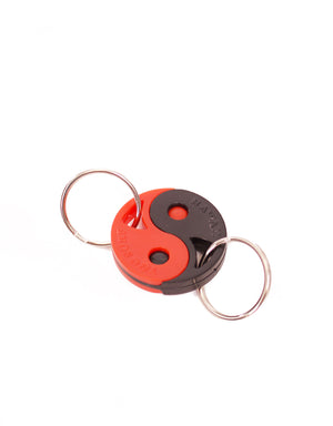 T&C Surf Designs Pull Apart Keychain, Black Red