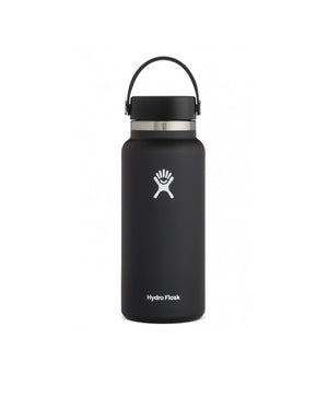 T&C Surf Designs Hydro Flask 32 oz Wide Mouth Flex Cap, Black