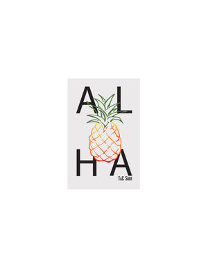 T&C Surf Designs T&C Surf Aloha Pineapple Vinyl Sticker, Black
