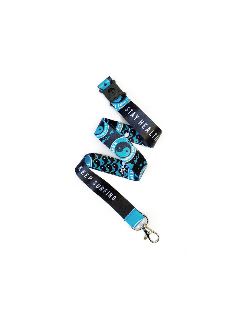 T&C Surf Designs T&C Surf Stay Healthy Keep Surfing Lanyard, Blue