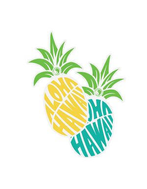 T&C Surf Designs Aloha Pine Hawaii Vinyl Sticker,