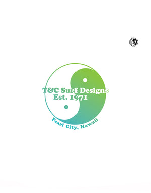 T&C Surf Designs T&C Surf 50  Year Giant Pearl Sticker, Green Blend