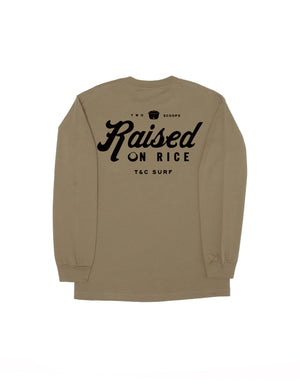 T&C Surf Designs T&C Surf Raised On Rice Long Sleeve, S / Military Green