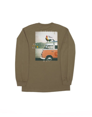 T&C Surf Designs T&C Surf Roosta Volkswagen Long Sleeve, M / Military Green