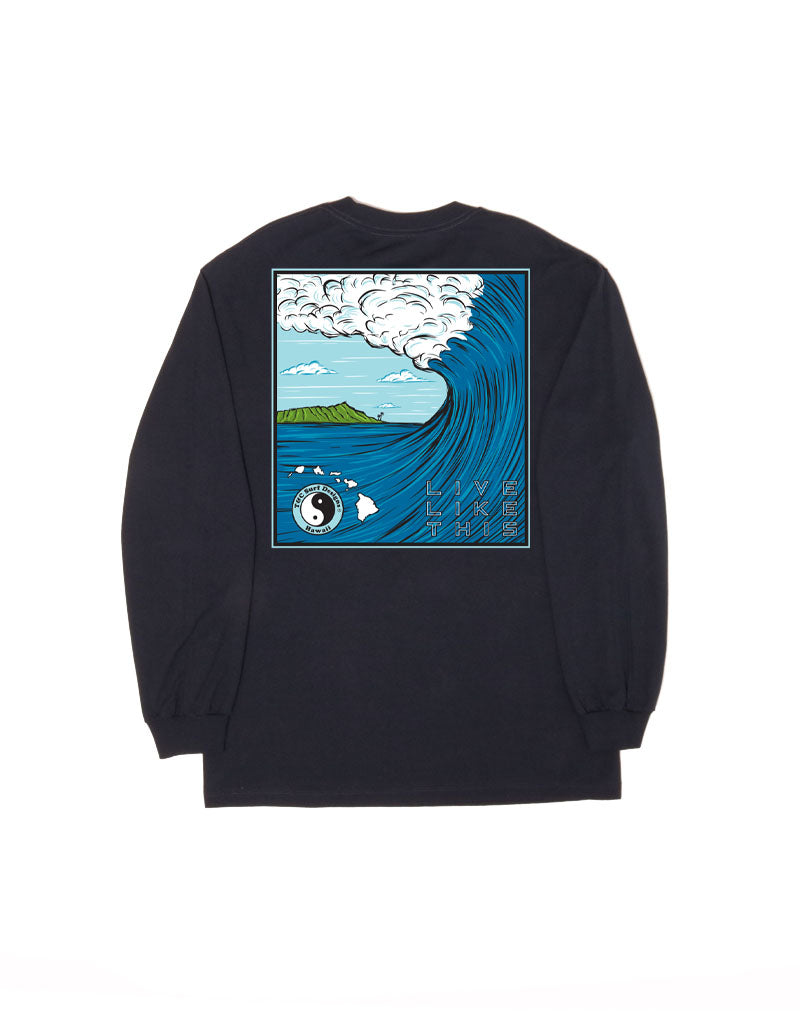T&C Surf Designs T&C Surf Sketch Barrel Long Sleeve, S / Navy
