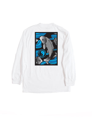 T&C Surf Designs T&C Surf Upstream Koi Long Sleeve, M / White