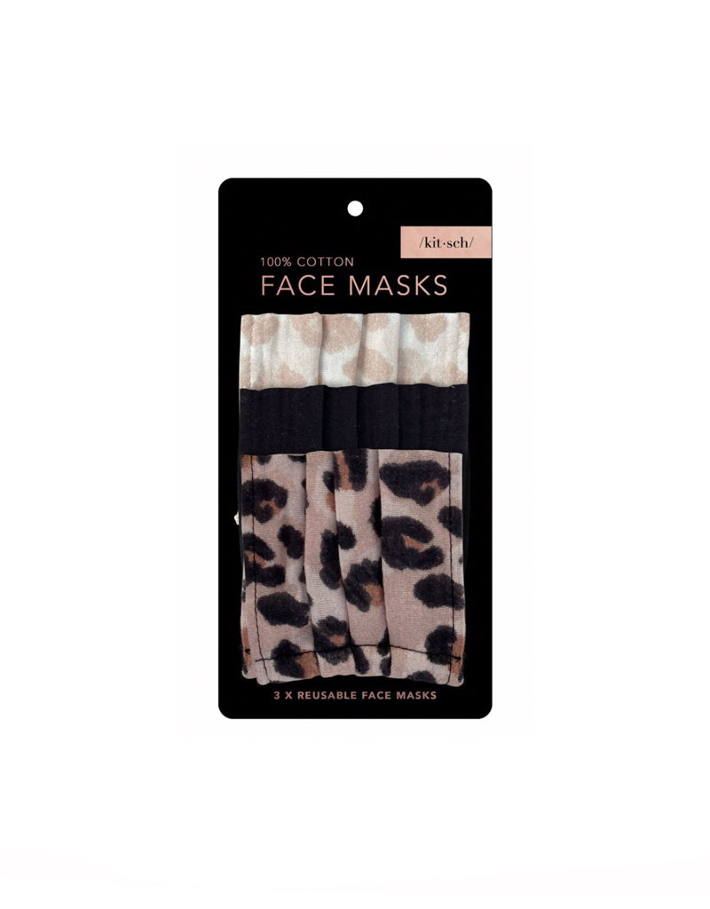 T&C Surf Designs Kitsch Face Mask Leopard, Leopard