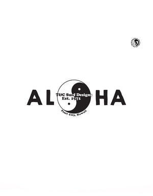 T&C Surf Designs T&C Surf 50 Year Aloha Priorities Sticker, Black