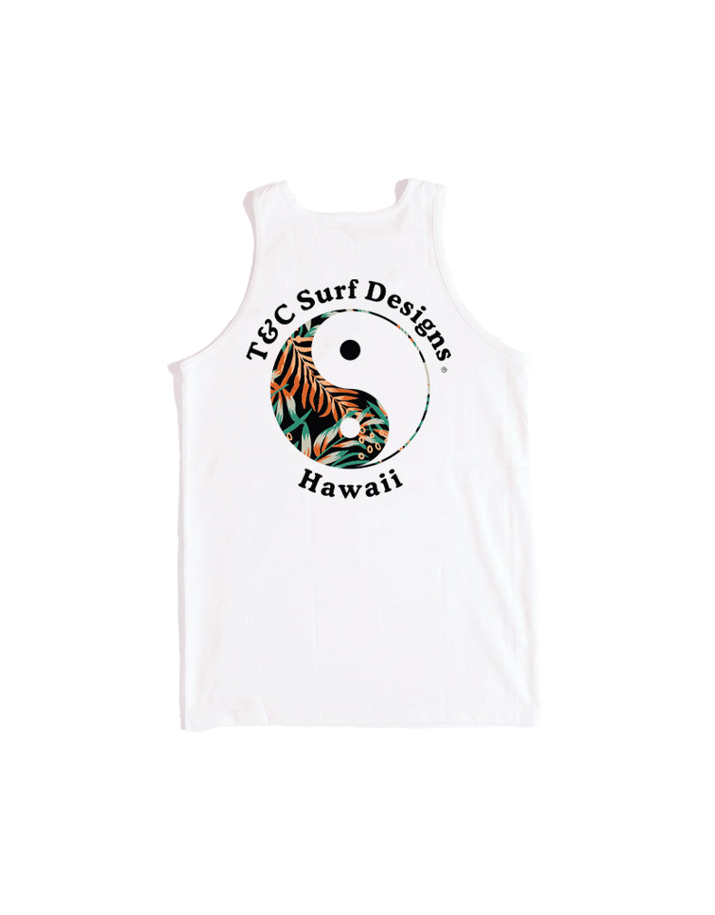 T&C Surf Designs T&C Surf Fern Logo Tank, S / White