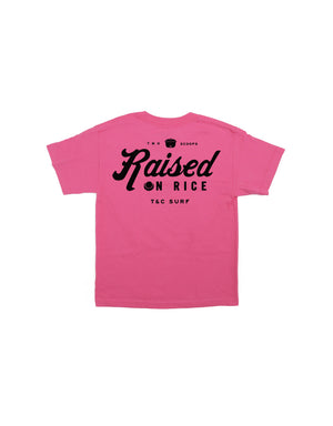 T&C Surf Designs T&C Surf Kids Raised On Rice Tee, XS / Pink