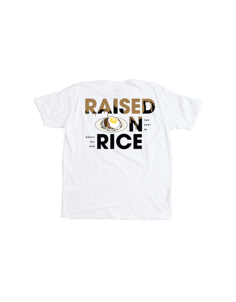 T&C Surf Designs T&C Surf Kids Raised On Loco Moco Tee, XS / White