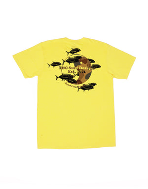 T&C Surf Designs T&C Surf Ulua Pile Jersey Tee, S / Yellow