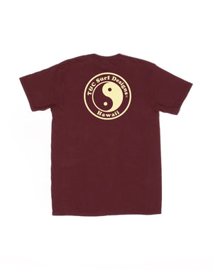 T&C Surf Designs New Positive ID Jersey Tee, S / Burgundy