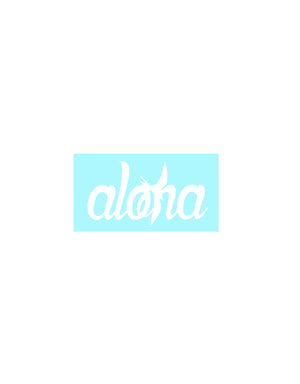 "T&C Surf Designs H Icon 808 Aloha 2.5"" Sticker, White"