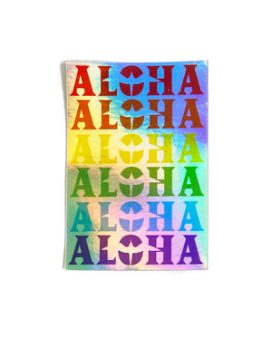 T&C Surf Designs H Icon 808 Aloha Anuenue Sticker, One