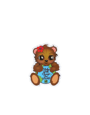 T&C Surf Designs H Icon 808 Aloha Bear Sticker, One