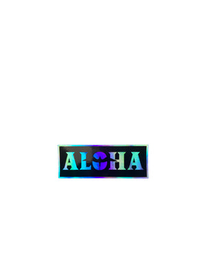 "T&C Surf Designs H Icon 808 Aloha Black Hologram 4"" Sticker, Black"