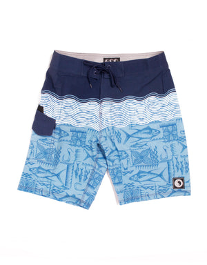 "T&C Surf Designs T&C Surf Tide 20"" Boardshort, 28 / Blue"