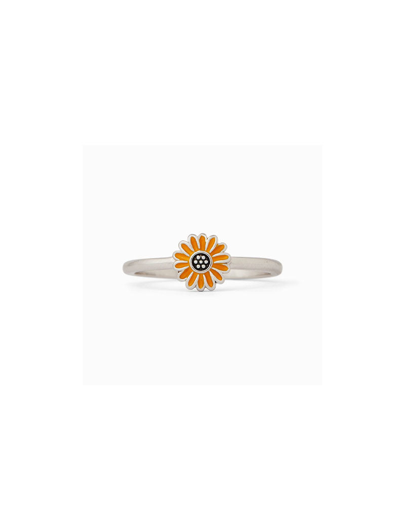 T&C Surf Designs Pura Vida Enamel Sunflower Ring,