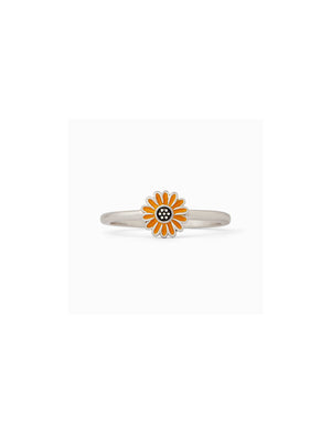 T&C Surf Designs Pura Vida Enamel Sunflower Ring, Silver / 5