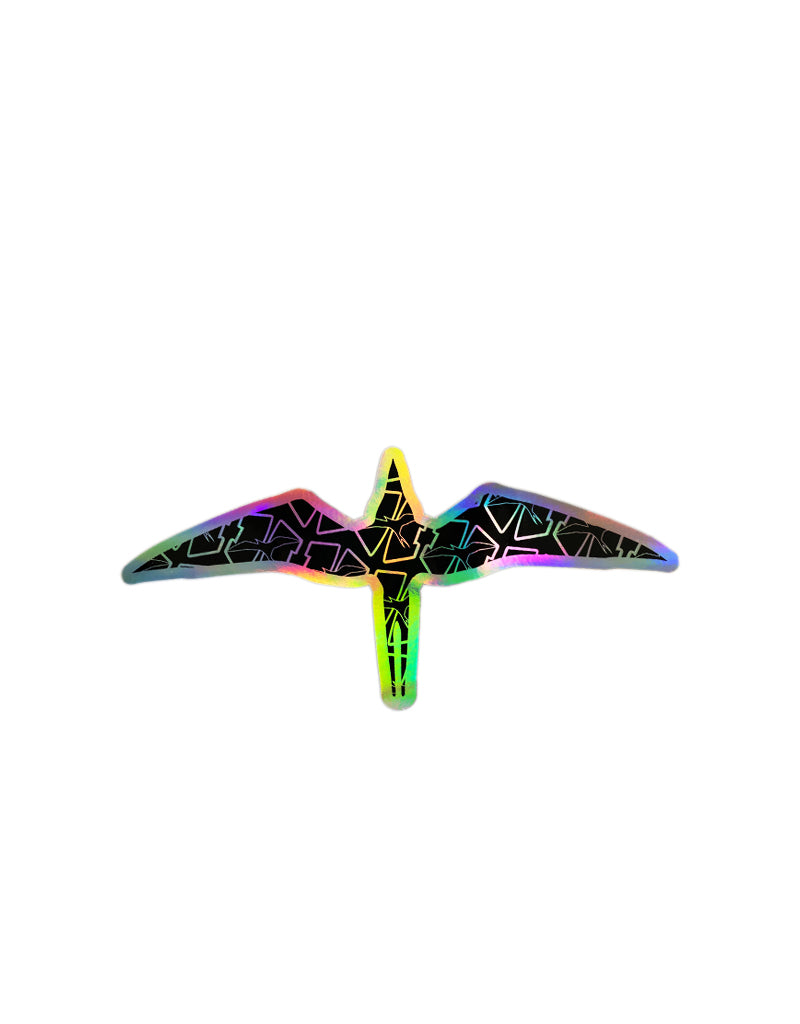 "T&C Surf Designs H Icon 808 Ghost Iwa Hologram 11"" Sticker, Hologram"