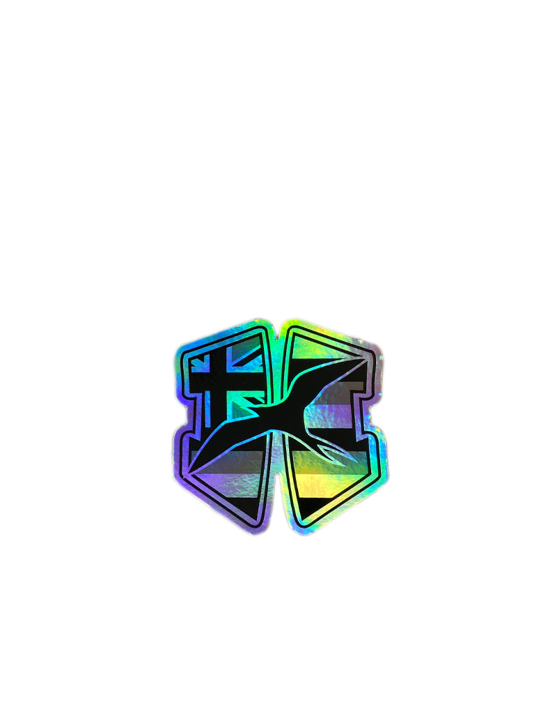 "T&C Surf Designs H Icon 808 H Flag Hologram 3"" Sticker, Hologram"