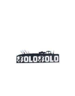 "T&C Surf Designs H Icon 808 Holoholo Black 4"" Sticker, Black"