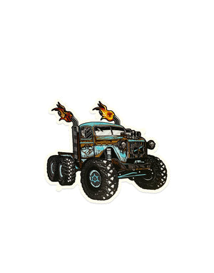 "T&C Surf Designs H Icon 808 Island Monster Rig Truck 4.75"" Sticker, 4.75"""