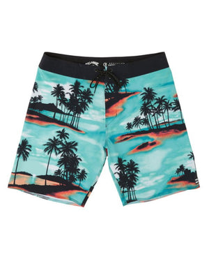 "T&C Surf Designs Billabong Sundays Airlite 19"" Boardshort - AQU, 28 / Aqu"