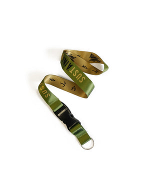 T&C Surf Designs Defend Sustainability Lanyard, Olive