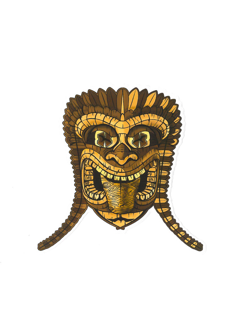 "T&C Surf Designs H Icon 808 6"" Tiki Man Sticker,"
