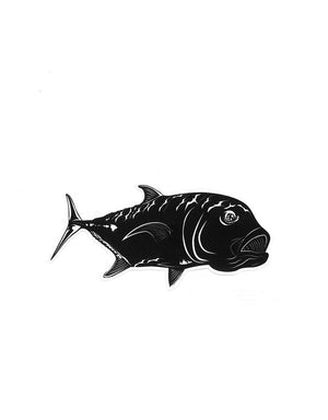 "T&C Surf Designs H Icon 808 Ulua Slay I'a 6"" Sticker,"