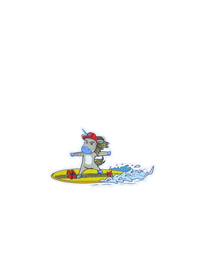 T&C Surf Designs H Icon 808 Unicorn He'enalu Kane Sticker, White