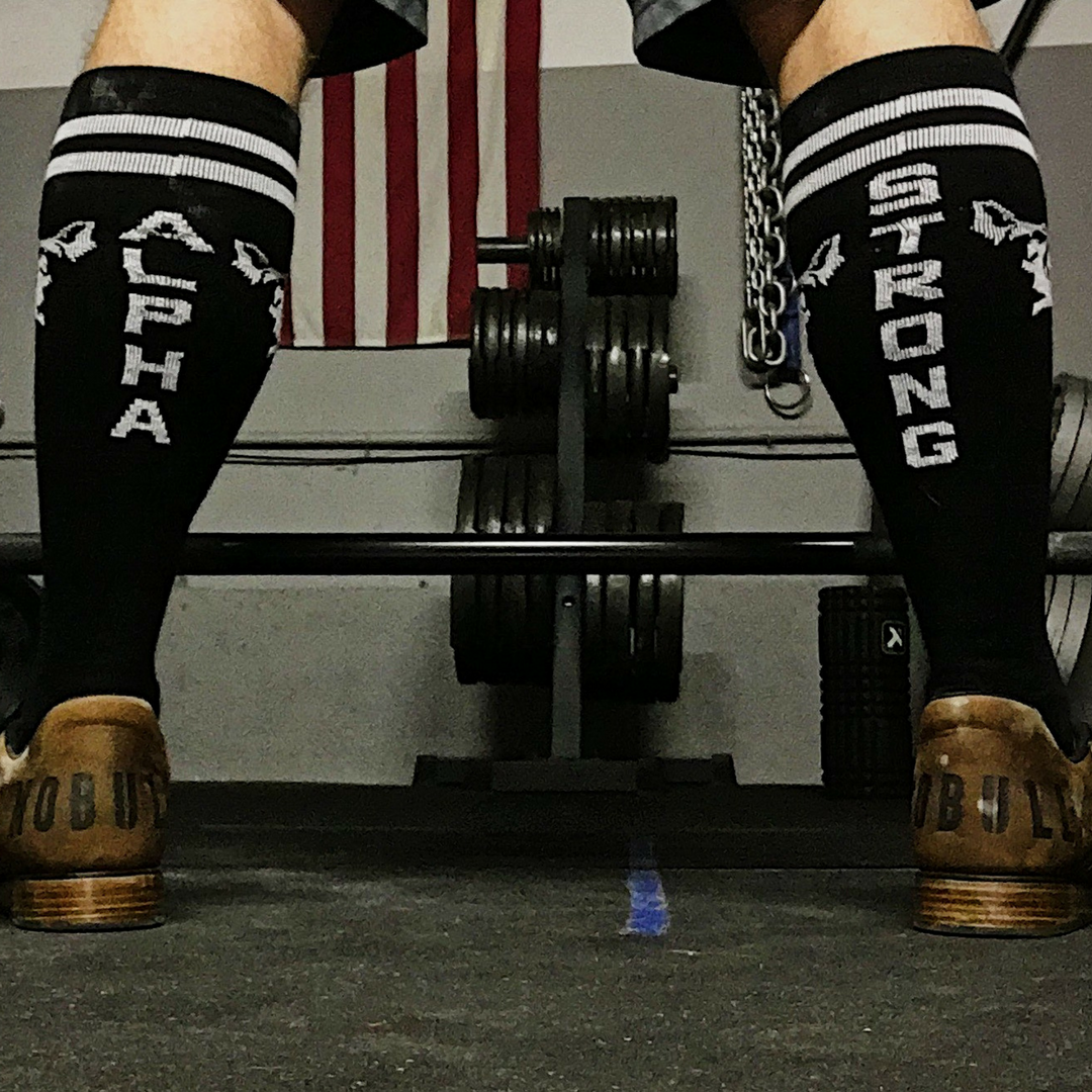 Alpha Strong Knee Socks | Workout Socks | Sheepdog Strong