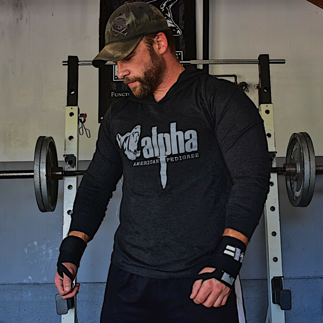 Alpha Strong Men's Training Hoodie | Military Workout Hoodie